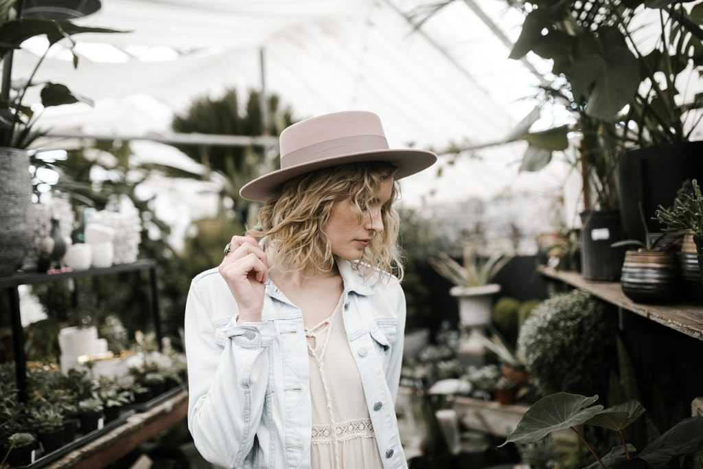 greenhouse styled shoot